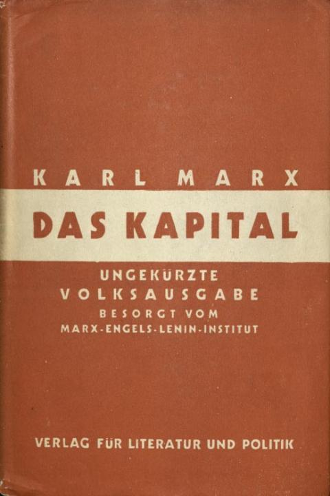 Vorbemerkung des Marx-Engels-Lenin-Instituts zum zweiten Band, Verlag für Literatur und Politik, 1933
