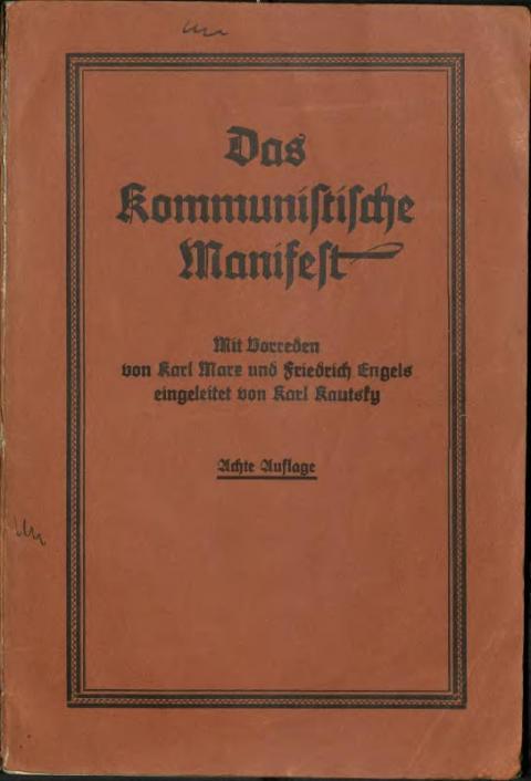 Vorwort zum Kommunistischen Manifest von Karl Kautsky, J.H.W. Dietz Nachfolger, 1928